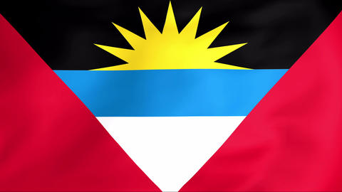 Flag Of Antigua and Barbuda Animation