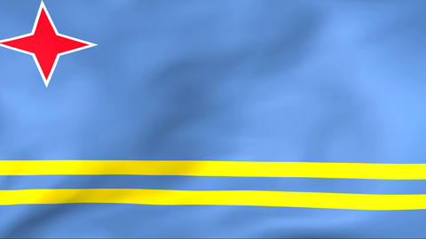 Flag Of Aruba Stock Video Footage