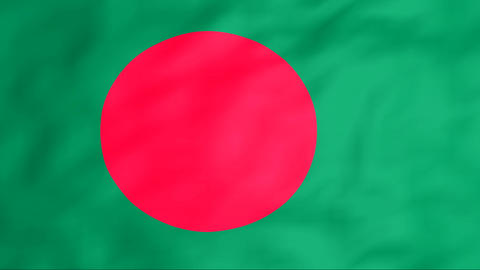 Flag Of Bangladesh Stock Video Footage