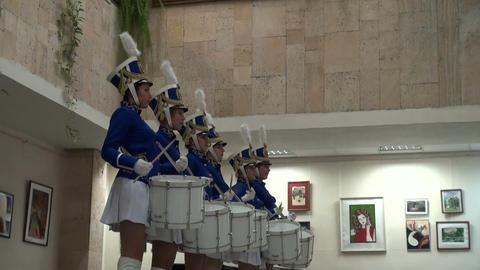 Drummer girl Stock Video Footage
