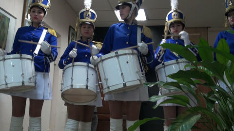 Drummer girl Stock Video Footage