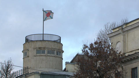 Flag on the Tower Stock Video Footage