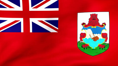 Flag Of Bermuda Stock Video Footage