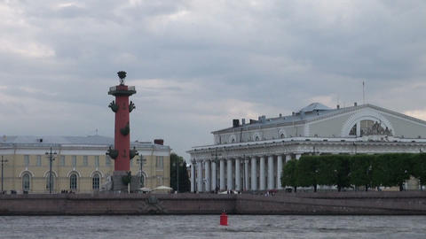 The building of the stock Exchange in St. Petersburg Stock Video Footage