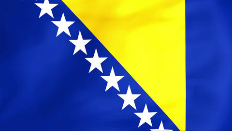 Flag Of Bosnia and Herzegovina Stock Video Footage