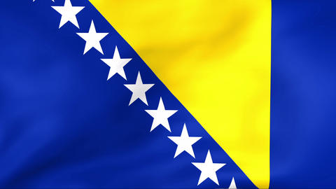 Flag Of Bosnia and Herzegovina Stock Video Footage
