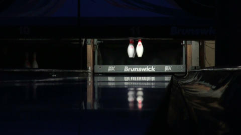 The game of Bowling Stock Video Footage