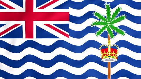 Flag Of British Indian Ocean Territory Stock Video Footage