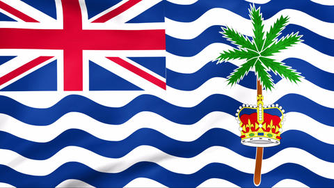 Flag Of British Indian Ocean Territory Stock Video Footage