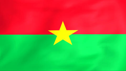 Flag Of Burkina Faso Animation