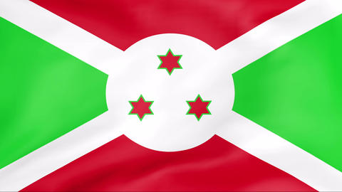 Flag Of Burundi Stock Video Footage