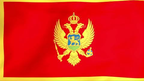 Flag Of Montenegro Animation