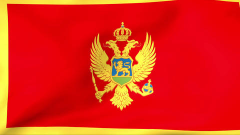 Flag Of Montenegro Stock Video Footage