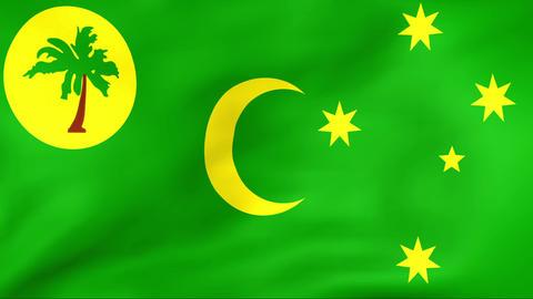 Flag Of Cocos (Keeling) Islands Stock Video Footage
