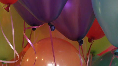 Colored balloons Stock Video Footage
