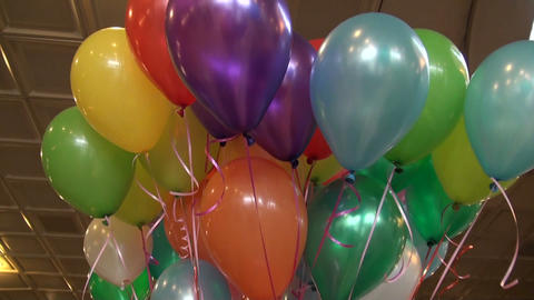 Colored Balloons stock footage