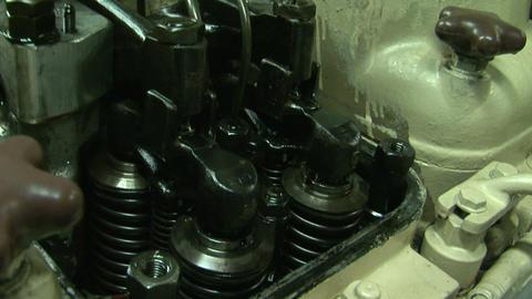 Minders have a diesel engine Stock Video Footage