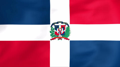Flag Of Dominican Republic Stock Video Footage