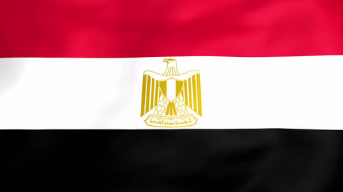 Flag Of Egypt Stock Video Footage