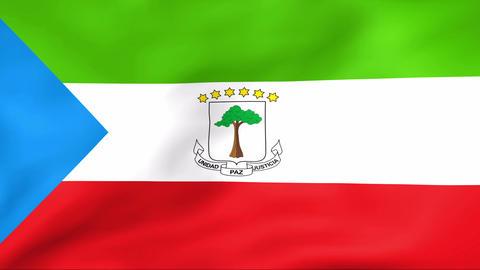 Flag Of Guinea Ecuatorial Stock Video Footage