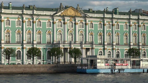 The Hermitage in St. Petersburg Footage