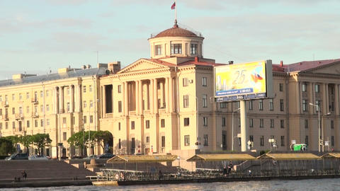 Concert hall of the Finlyandsky railway station in St. Petersburg Footage