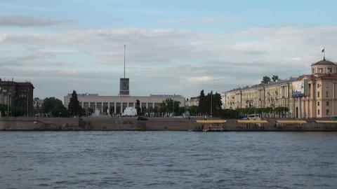 Finlyandsky Rail Terminal in St. Petersburg Stock Video Footage