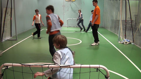 Children playing in soccer Stock Video Footage