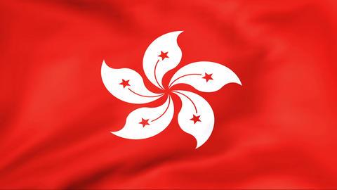 Flag Of Hong Kong Stock Video Footage