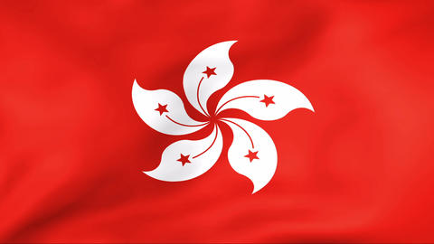 Flag Of Hong Kong Stock Video Footage