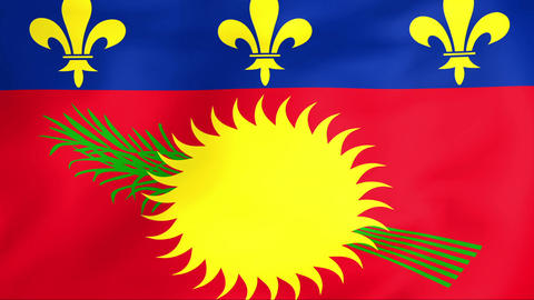 Flag Of Guadeloupe Animation