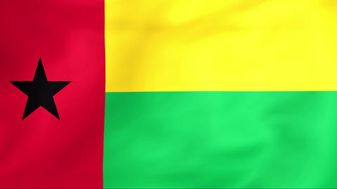 Flag Of Guinea-Bissau Animation