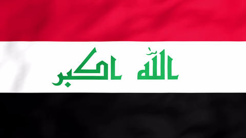 Flag Of Iraq Stock Video Footage