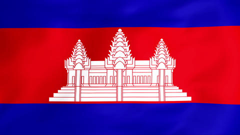 Flag Of Cambodia Stock Video Footage
