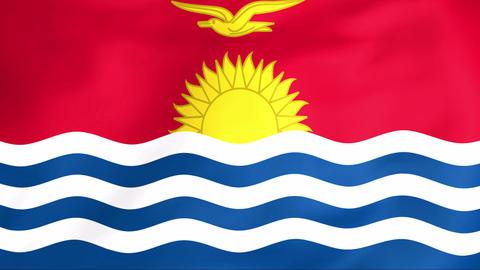 Flag Of Kiribati Stock Video Footage