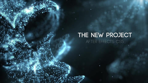 The Blue Space Titles After Effects Template