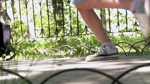 Hip Hop Street Dance Foot Moves Footage