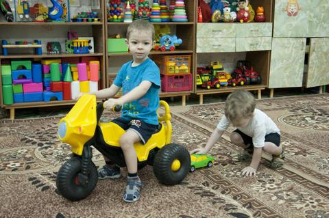 child in kindergarten Photo