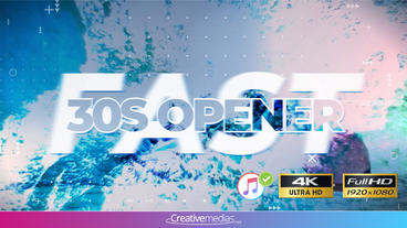 Fast 30s Opener - After Effects Template Plantilla de After Effects
