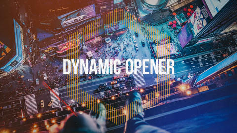 Dynamic Opener After Effectsテンプレート