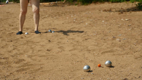 Petanque game slow motion Footage