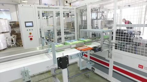 Product Packaging Line At Factory2 Footage