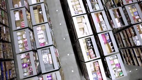 Carriers Carrying Goods In Modern Warehouse Footage