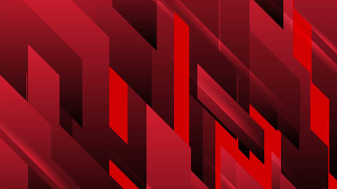 Red tech tech geometric abstract motion background Animation
