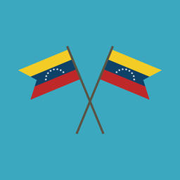 Venezuela flag icon in flat design Vector