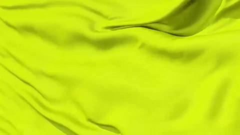 Background of soft rippled yellow luxurious fabric, seamless looping Footage