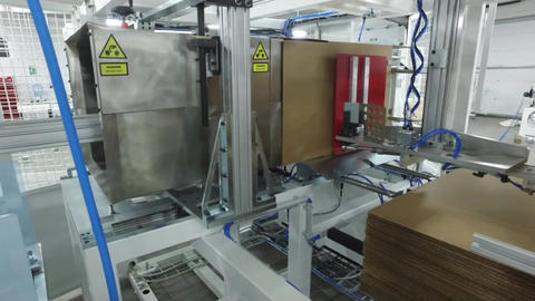 Product Packaging Line At Factory1 Footage