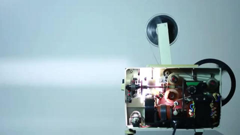 Cinema projector works Stock Video Footage