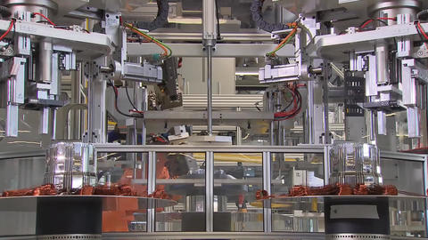 Engine Production Factory. Electric Engine Production Process4 Live Action