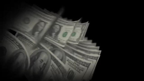 Cash counting 100 and 1 dollars Footage